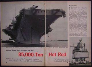 USS Enterprise Nuclear Aircraft Carrier 1962 Pictorial