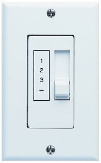 Concord Fans 3 Speed Ceiling Fan Slider White Wall Control Switch