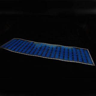 90x25cm Blue Car Music Rhythm LED Flash Light Sticker Sound Equalizer Decorative