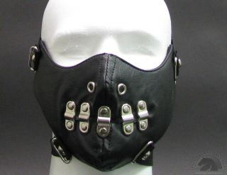 Punk Leather Half Neoprene Motorcycle Biker Snow Mobile Skiing Winter Face Mask