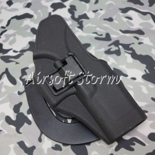 CQC Tactical Glock 17 22 31 RH Drop Leg Holster with Magazine Light Case Black