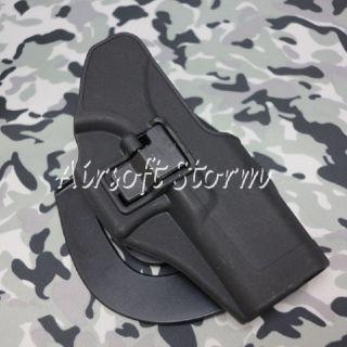 CQC Tactical Glock 17 22 31 RH Drop Leg Holster with Magazine Light Case Black