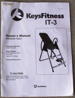 Keys Fitness Model It 3 Gravity Inversion Table Exercise Workout Back Relief