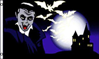 Halloween Vampire Monster Garden Decorative Large New Poly 3x5 Banner Sign Flag