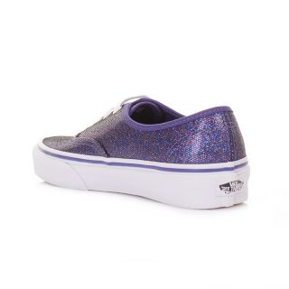 Vans Shoes Womens Authentic Iridescent Blue Glitter Ladies Trainers Size 5 10