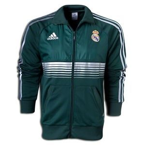 New Mens Adidas Real Madrid Anthem Soccer Track Green Football Jacket Shirt