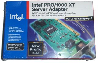 New PWLA8490XTL Intel Pro 1000 XT PCI x Gigabit Ethernet Low Profile Bracket