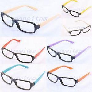 Fashion Costume Girls Boys Nerd Geek Eyeglasses Eyewear Glasses Frames No Lens