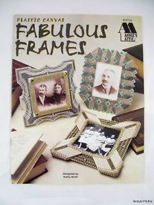 Fabulous Frames Plastic Canvas Pattern Book Art Deco Vintage Style 1920s