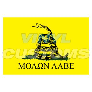 "5"" Molon Labe Decal Sticker Dont Tread on Me Sticker Decal"