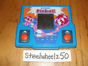 Vintage Tiger Electronic Pinball Handheld Travel Game LCD 1987 No Battery Cover