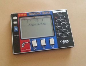 Vintage Casio BG 20 LCD Alarm Watch Boxing Game Calculator Electronic Game RARE
