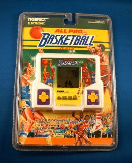 1980s All Pro Basketball Tiger Electronic Handheld Video LCD Game Arcade Vintage