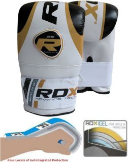RDX Gel Pro Bag Mitts Boxing Gloves Grappling Punch MMA UFC Muay Thai Training G