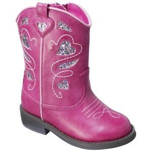 Cherokee Deloria Glitter Cowgirl Boots Shoes Toddler Girls Sz 7 Pageant Costume