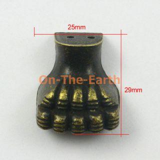 4 Antique Brass Decorative Feet Jewelry Box Feet Case Leg 25x29mm with Screws
