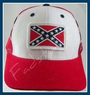 Confederate Flag Hat Southern Redneck Rebel Mesh Cap