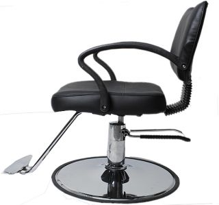 Hydraulic Barber Chair Styling Salon Work Station Chair New Modern Design Black