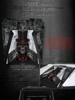 "Polaris RZR XP 900 800 570 RZR 4 Hood Graphics Decals Set Kit ""The Outlaw"" Parts"
