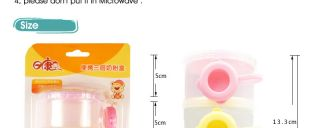 Baby Milk Powder Container Dispenser Formula Babies Feeding 3 Layer