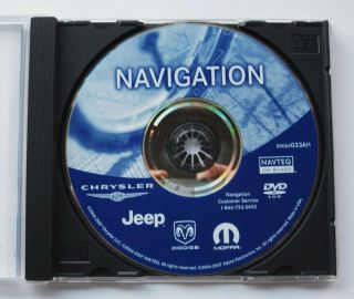 Chrysler Dodge Jeep Mopar Navigation DVD Map Rec Disc 05064033AF 100 Genuine CD