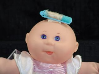 1995 Cabbage Patch Kid Blonde Baby Doll Pink Dress Toy