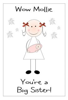 Big Sister Congratulations Card Personalised