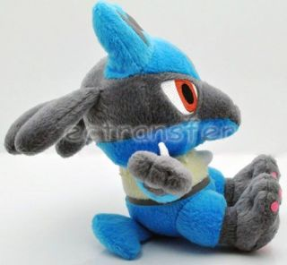 """New Pokemon 7"""" Lucario Plush Toy Doll PB12"""