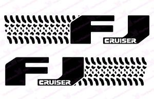 Toyota FJ Cruiser Tire Design Door Graphic Decals Sticker Kit
