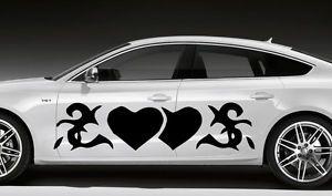 Car Vinyl Sticker Graphics Tribal Tattoo Abstract Heart Design Pattern OS193