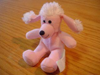 "Build A Bear Pink Fu Fu Poodle Dog 5"" Stuffed Animal"