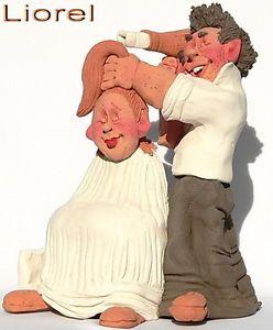 Hair Dresser Barber Art Figurine Hairdressing Cutting Styling Design Care Style
