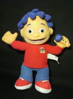 """PBS Playskool Hasbro 2009 13"""" Talking Sid The Science Kid Plush Doll T1"""