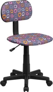 Best Fun Design Office Desk Task Computer Chair Kids Adults Swivel Purple Color