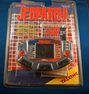 Talking Jeopardy Tiger Electronic Handheld Game Cartridge Book TV Show Trivia