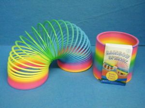 Kids Giant Rainbow Springy Toy Childrens Slinky Stretches to Over 9 Feet