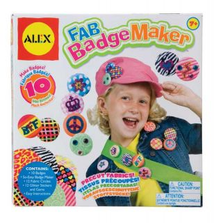 Child Kids Teen Creative Arts Crafts Fabric Badge Maker Making Design Toy Set