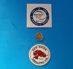 2 Oilfield Hard Hat Stickers Red Tiger Parker Drilling