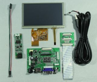 "HDMI VGA 2AV LCD Driver Board vs TY2662 V1 5""800x480 AT050TN43 LCD Touch Panel"