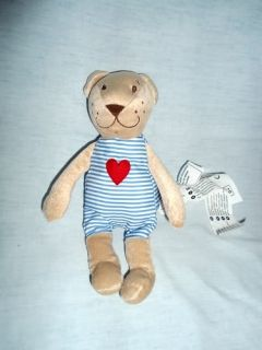 "IKEA 9"" Plush Fabler Bjorn Stuffed Tan Brown Teddy Bear Lovey w Heart"