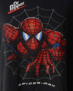 2002 Spiderman Dr Pepper Promo Black Tshirt Sz XL