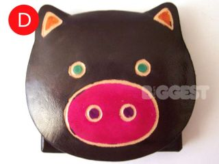 Kids Childrens Girls Cute Leather Pig Coin Purse Gift