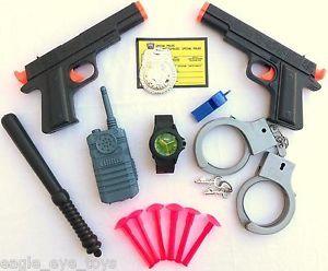 2X Colt 45 45 Soft Dart Pistol Gun Police Detective Guns Huge Set Kids Safe