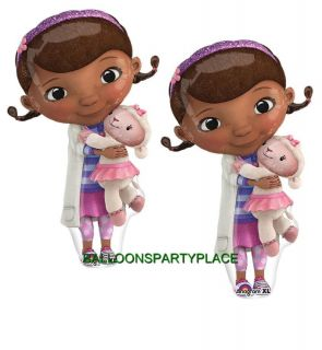2 PK Doc McStuffins Mylar Balloons Birthday Party Supplies Decorations Girls XL