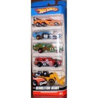 Toy Hot Wheels 5 Car Gift Pack Demolition Derby Kids Children New Fast Shippi