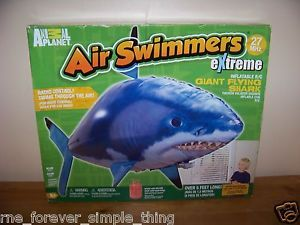 RC Flying Shark Fish Inflatable Air Swimmer Blimp Balloon Toy New Children Play