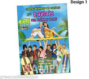 Teen Beach Movie Invitation Birthday Party Custom Invites Supplies Favors