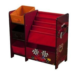 Kids Room Toy Bin Organizer Storage Box 4GR8 Kidz Racing Series Tot Tutors Book