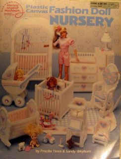 Plastic Canvas Pattern Book Teen Fashion Doll Furniture Nursery Barbie