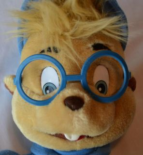 "Alvin Chipmunks Simon Vintage 1993 Big 17"" Plush Stuffed Puppet Toy"